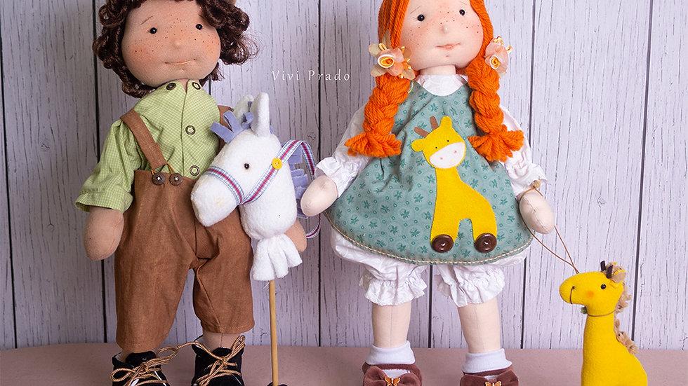 Curso On-line Bonecos Carol e Pedrinho