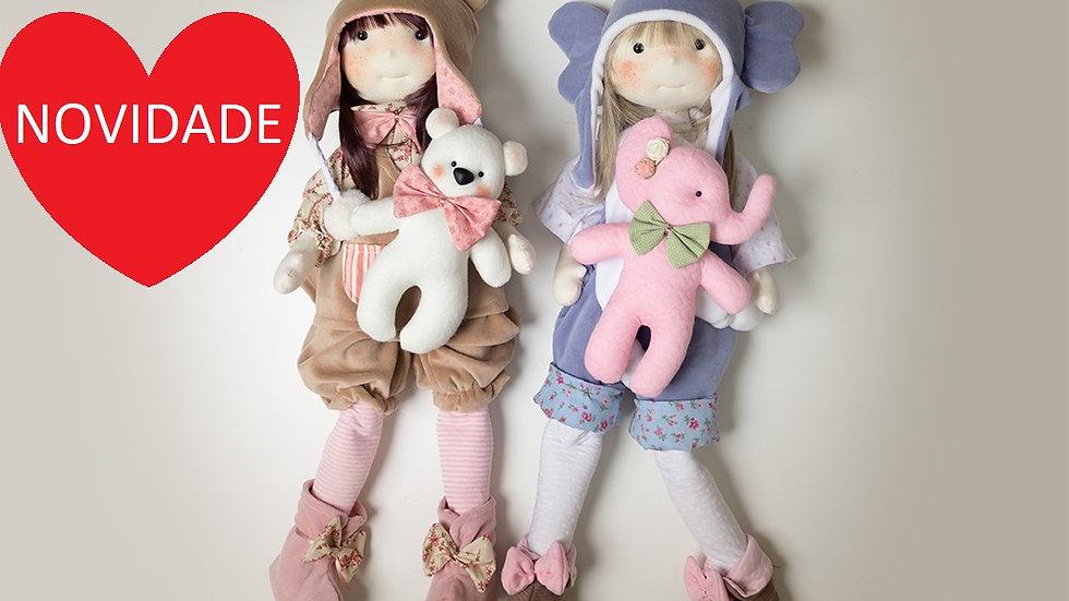Curso on-line bonecas Dora e Luna