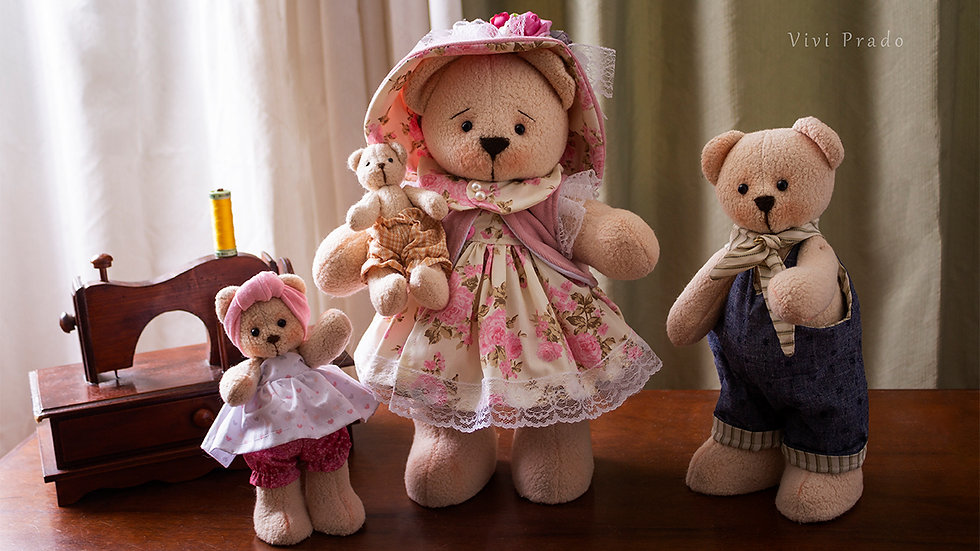 Curso On-line Mamãe Ursa e seus filhotes - Coleção Amor de Mãe