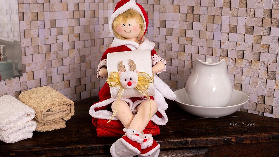 Projeto Digital Boneca Porta Papel Higiênico de Natal