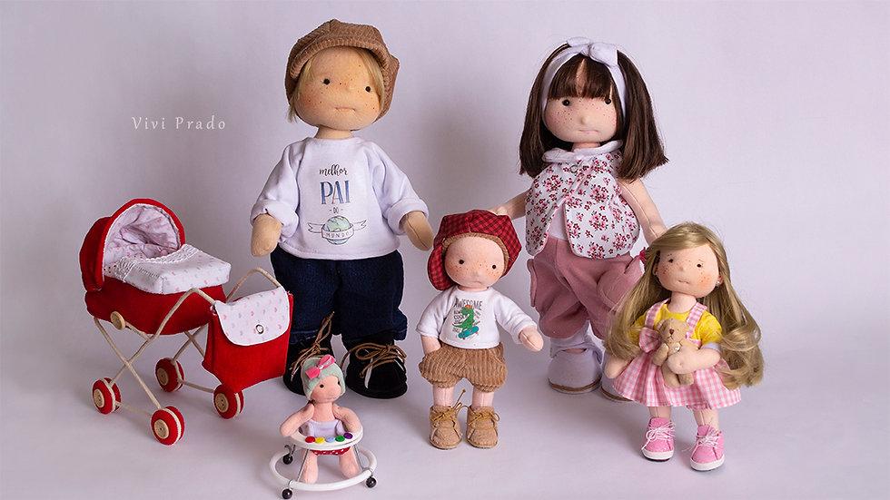 Curso On-line Boneca Gravidinha Helena e sua Família