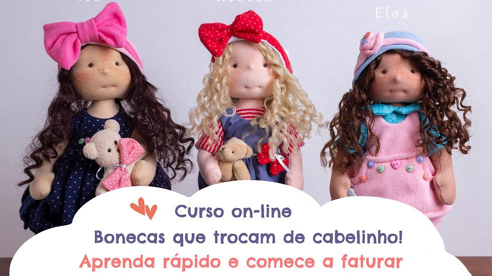 Curso On-line - Coleção Bonecas que trocam de Cabelinho
