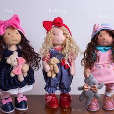 Bonecas que trocam de cabelinho