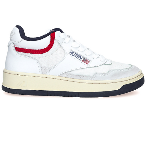AUTRY Action Shoes - Autry Mid Man Open White/USA
