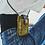 Thumbnail: CLARIS VIROT - Etui à Téléphone Lézard Dbl Marcus Kaki Moutarde