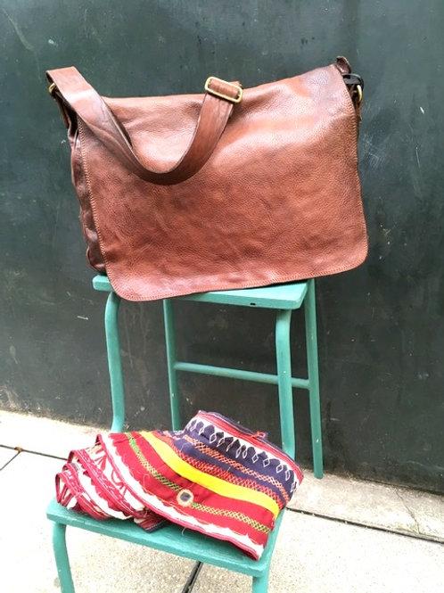 CAMPOMAGGI - Sac Bandoulière 100% Leather