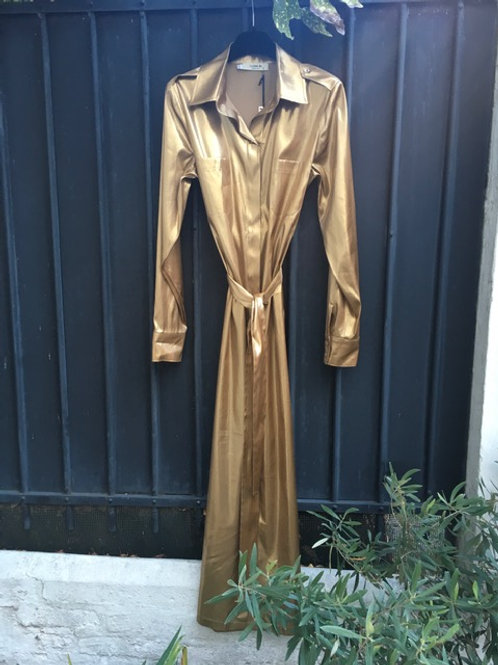 LUNA BI - Robe Longue Dorée