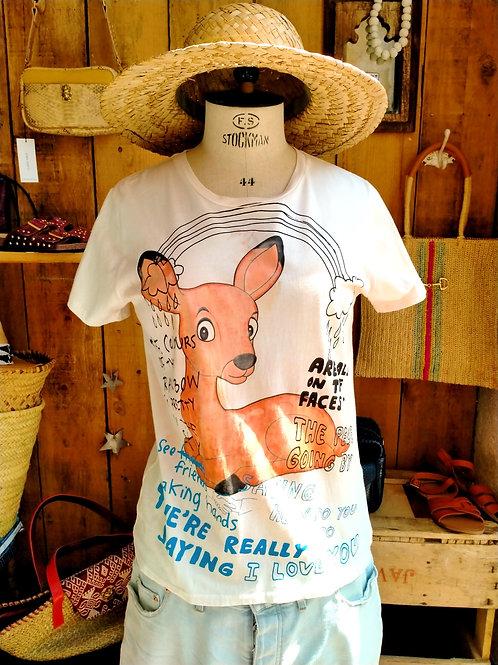 SIMEON FARRAR - T Shirt Bambi Rainbow
