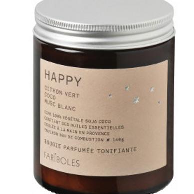 FARIBOLES BOUGIES - Happy 140gr 100% Végétale