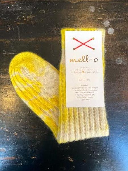 MELLO - O SOCKS - Tie Dye Socks Bright Yellow