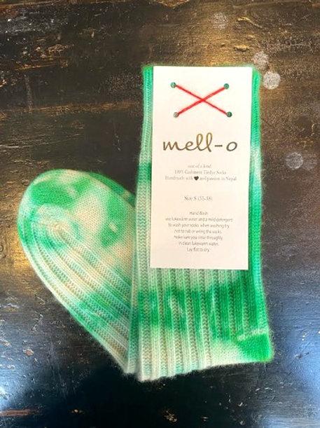 MELLO - O SOCKS - Tie Dye Socks Evergreen