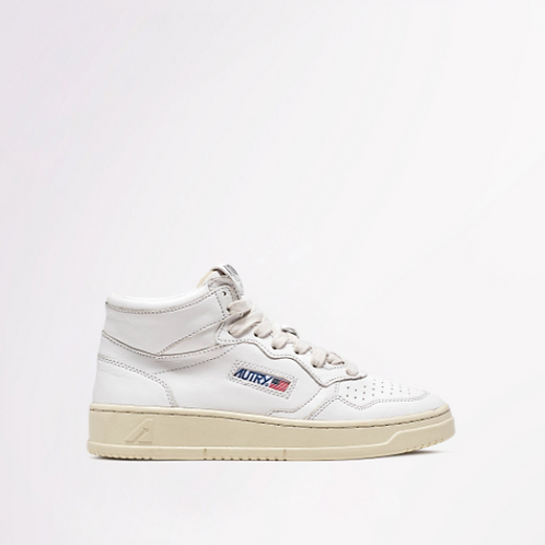 AUTRY Action Shoes - Autry 01 Mid Wom Goat / White