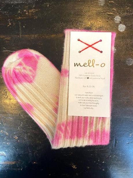 MELLO - O SOCKS - Tie Dye Socks Pink