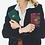Thumbnail: CLARIS VIROT  - Porte Cartes Cuir Alex Vert Foret Aubergine