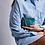 Thumbnail: CLARIS VIROT - Porte Monnaie Python Olivia Bleu Canard