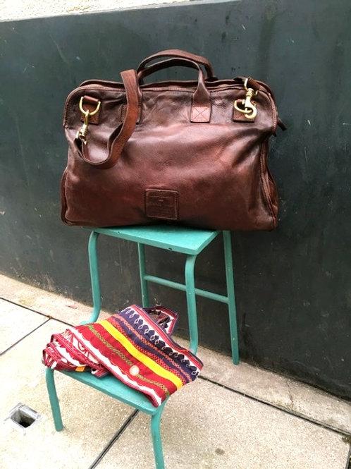 CAMPOMAGGI - Sac de Travail 100% Leather
