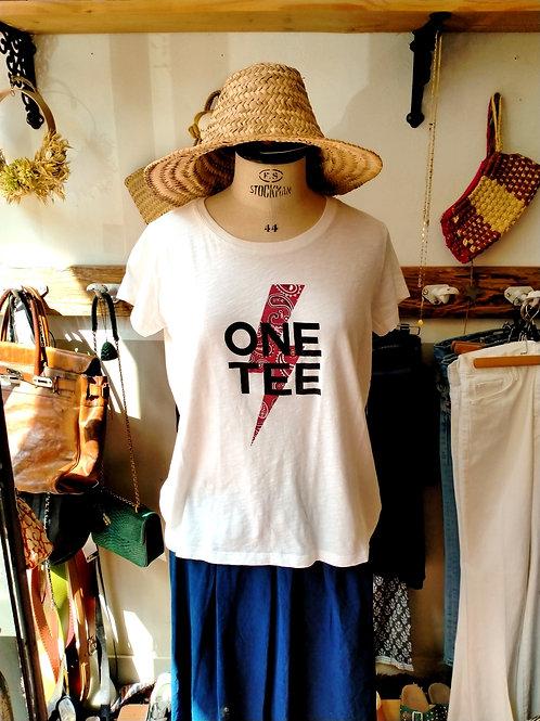 ONE TEE - T-shirt Ava Blanc