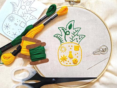 DIY Pineapple Embroidery Kit