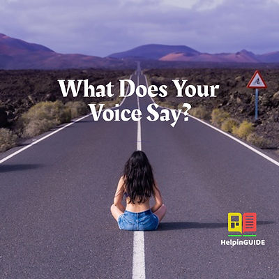 What Does Your Voice Say