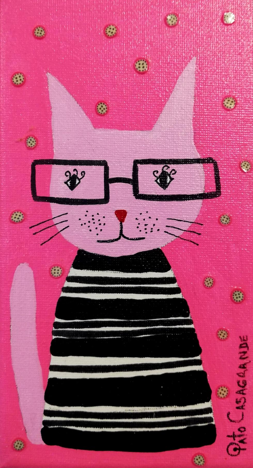 Gato con lentes
