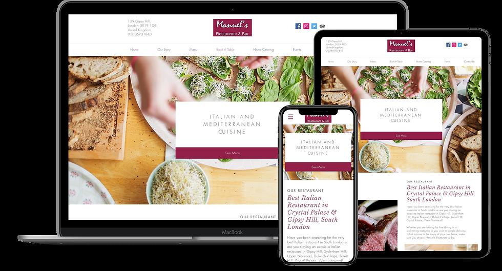 Web Design : Manuel's Restaurants And Bar