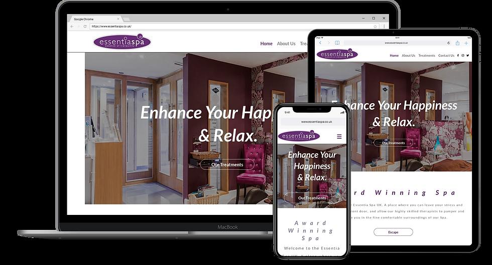 Web Design : Essentia Spa UK