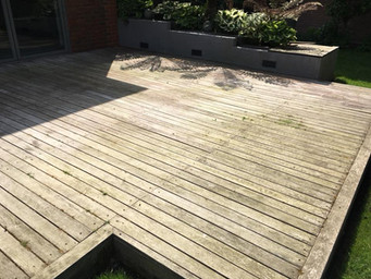 Before - Patio Cleaning