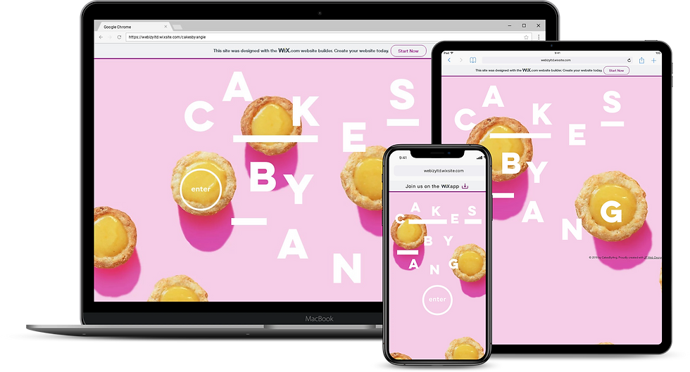 Web Design : Cakes By Ang