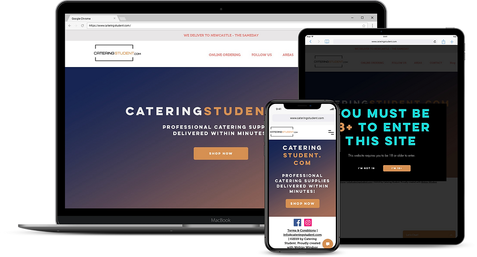 Web Design : Catering Student