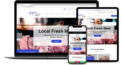 Web Design : A1 Cooked Meats