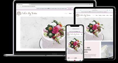 Web Design : Cakes By Tasha