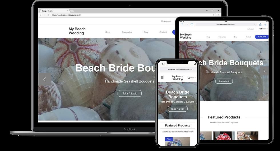 Web Design : My Beach Wedding