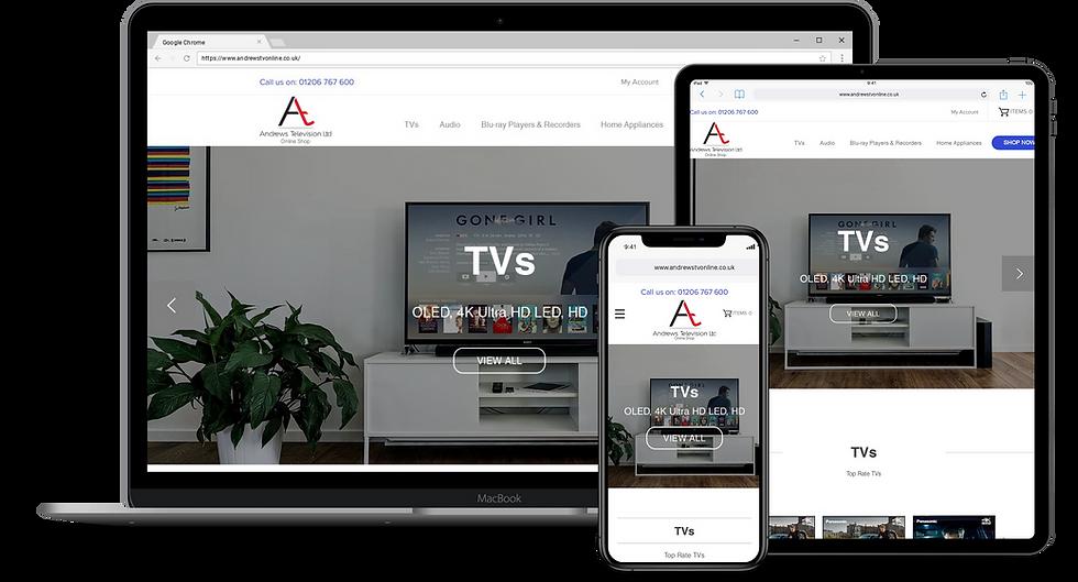 Web Design : Andrews TV