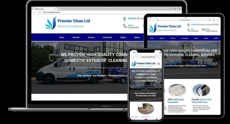 Web Design : Premierclean
