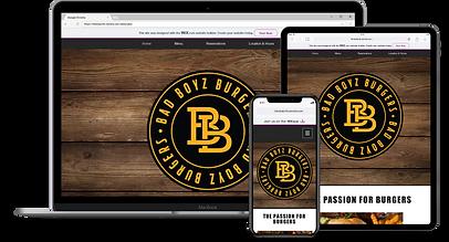 Web Design : Bad Boyz Burgers