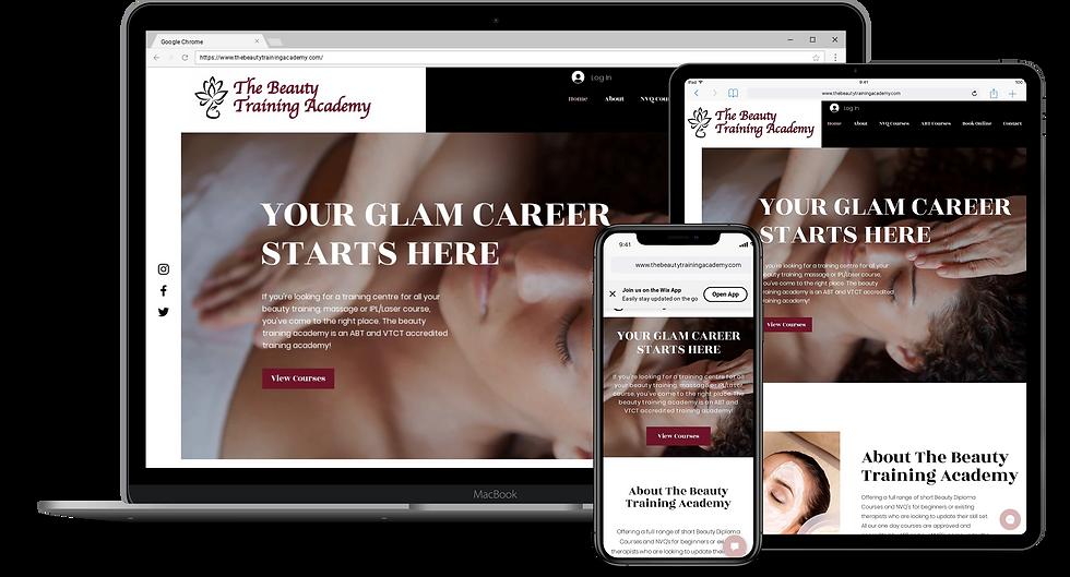 Web Design : The Beauty Training Academy