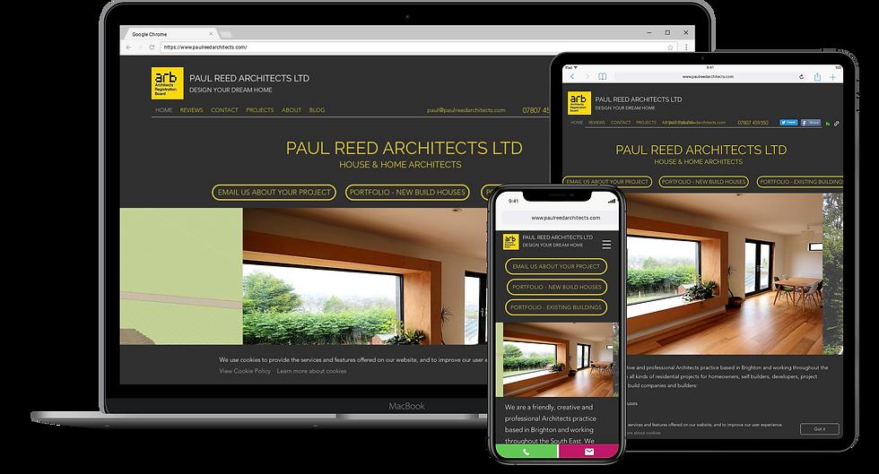 Web Design : Paul Reed Architects