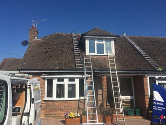 Roof Cleaning Set up