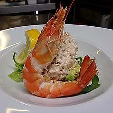 Mediterranean Prawns and Crab Cocktail with avocado and Marie-Rose sauce