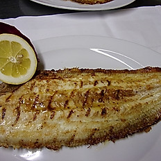 Charcoal grilled whole Dover Sole £28-34