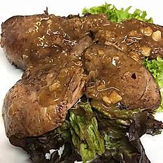 Duck liver salad