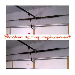Befor And After  Same day garage door broken springs replacement