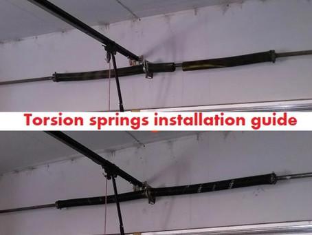 Garage door torsion springs installation guide