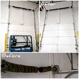 12ft commercial garage door broken springs replacement