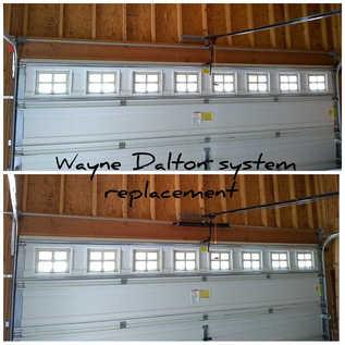 Befor And After  Garage door new system installtion