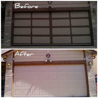 Same day new insulated garage door installation