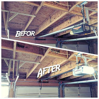 New LiftMaster opener installation by Local First Garage Door Service And Repair Before And After