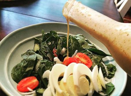 Spinach Salad with Goldsmith Garlic Vinaigrette