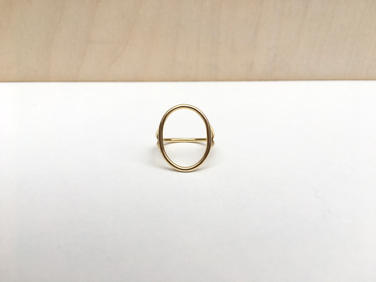 prsteň SKELET pozlátený ovál