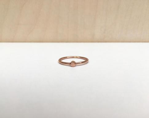 prsteň ONE Ag rose gold